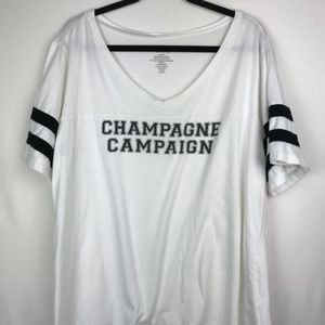 TORRID CHAMPAGNE CAMPAIGN T SHIRT